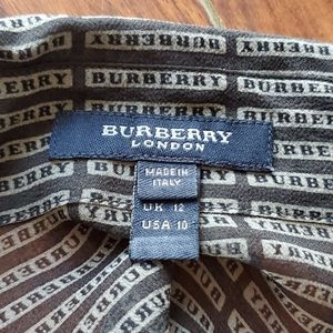 Burberry Tops - Authentic Burberry Spell Out Sheer Silk Blouse